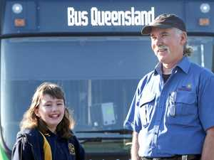 Bus driver goes extra mile for terrified girl, 9