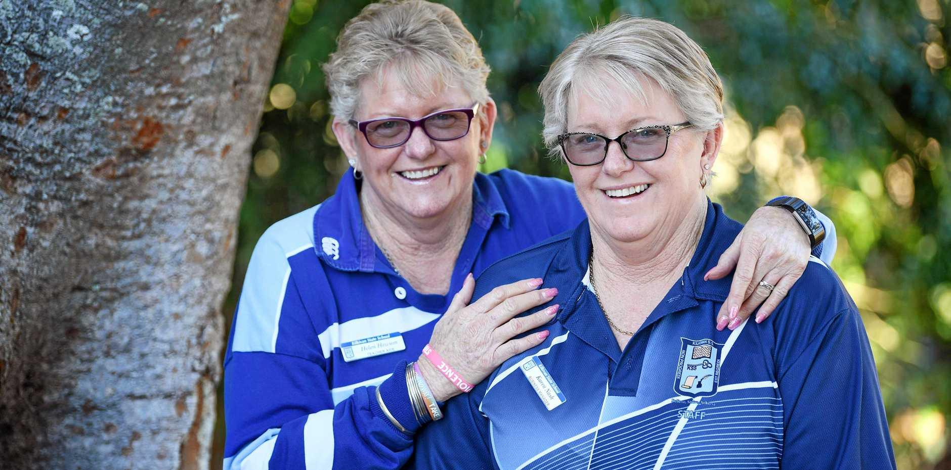 TWIN ROLES: Helen Hewson and Karen Nash twins that both work at Kilkivan school.