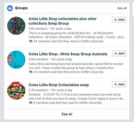 Coles Little Shop Facebook groups have been set up to swap the collectables and have thousands of members.