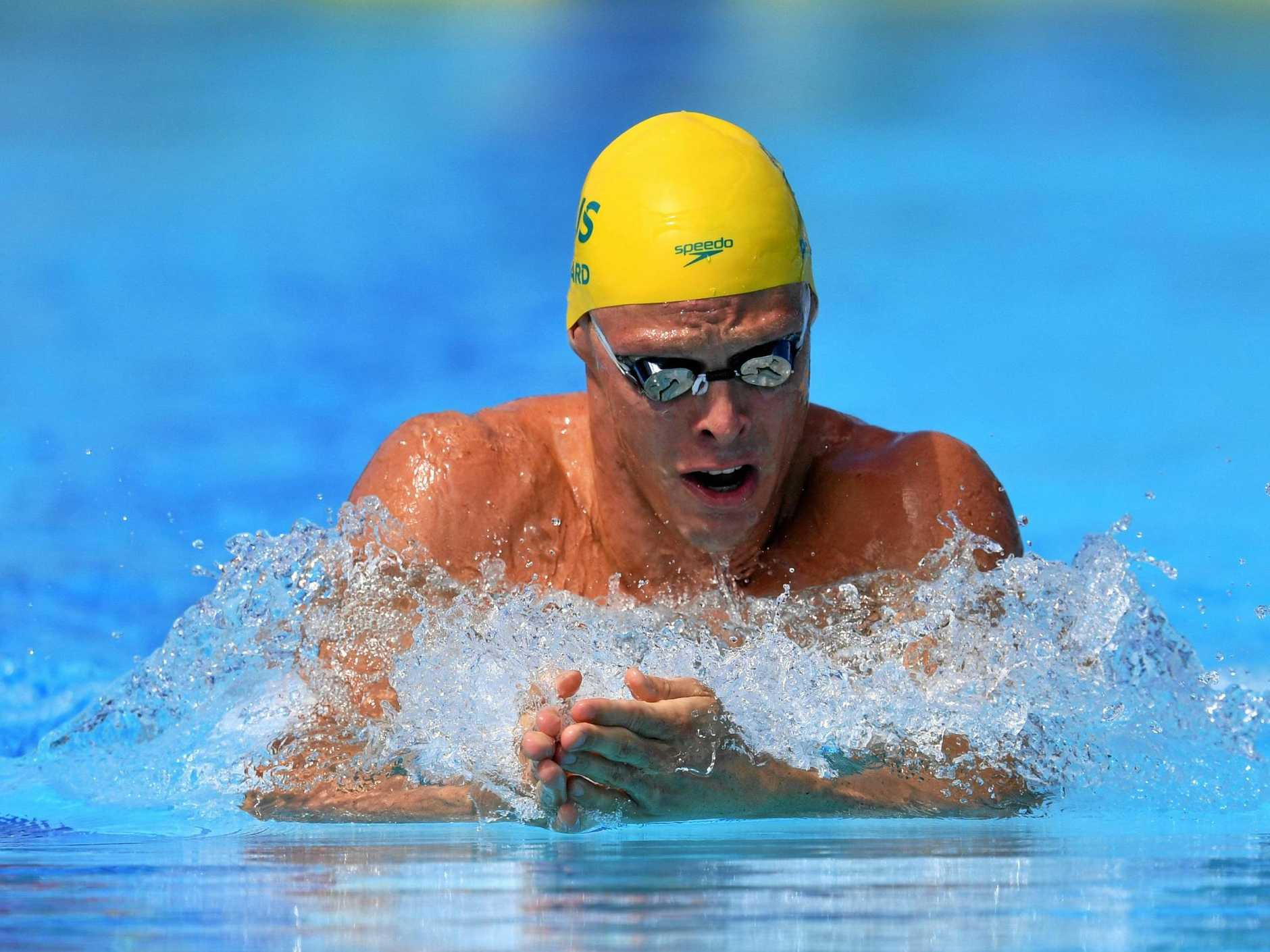 IN THE POOL: Jake Packard during the Commonwealth Games at Gold Coast Aquatic Centre.