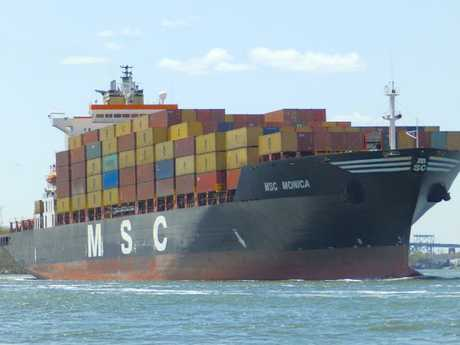 The  MSC Monica  docked in Fremantle in 2008 with a huge drugs stash on board.