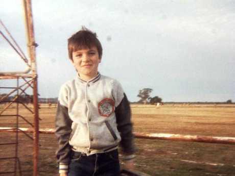 Australian Idol runner-up Shannon Noll as child on the farm in Condobolin.
