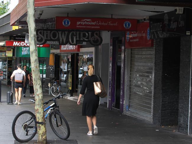 The Golden Mile of Sydney's  Kings Cross.