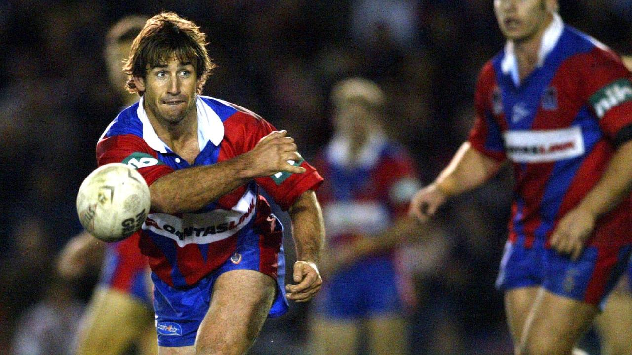 Andrew Johns in action for the Newcastle Knights in 2003. Pic: Brett Costello.