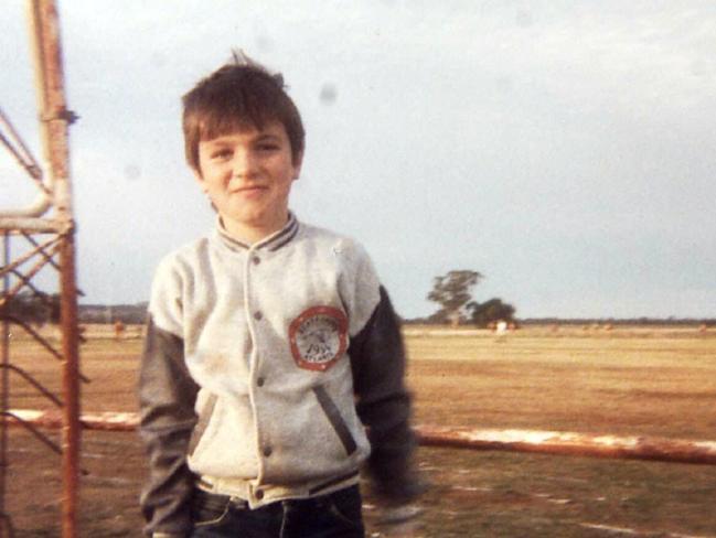 Australian Idol runner-up Shannon Noll as child on the family farm in Condobolin.