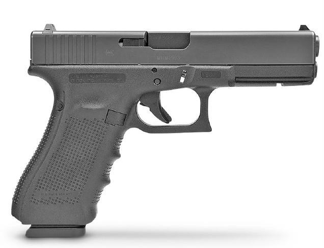 A Glock pistol.