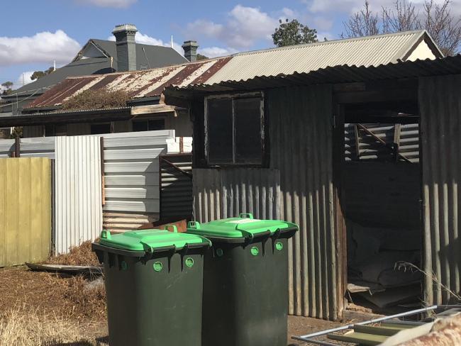 The shack behind the house where John Edwards' father Jack slept.