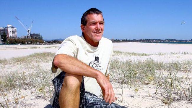 Wayne Deane on Kirra Beach.