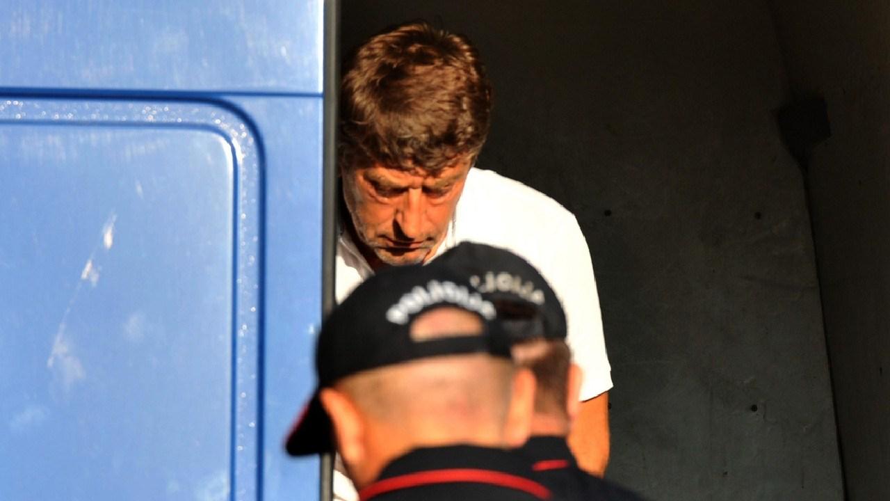 Vaso Ulic arrest picture from website Vijesti. Picture: Savo Prelevic