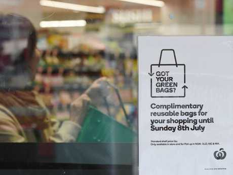 The offer of free plastic bags has been extended to August 29 for Coles shoppers, but even after that date no loss of life is expected to result from the ban. Picture: Peter Rae