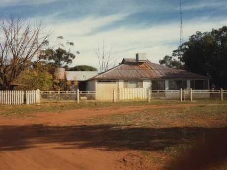 The Shannon Noll farm house which couldn't stay afloat in the droughts.