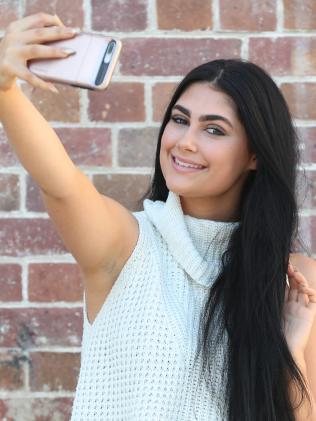 Natasha Rodway takes a selfie …