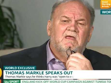 Thomas Markle hasn't been shy about giving interviews on estranged daughter, Meghan. Picture: ITV