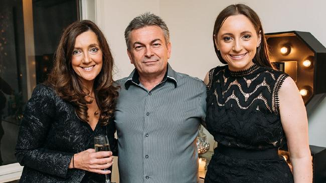 Karen Ristevski with her husband Borce Ristevski and daughter Sarah.