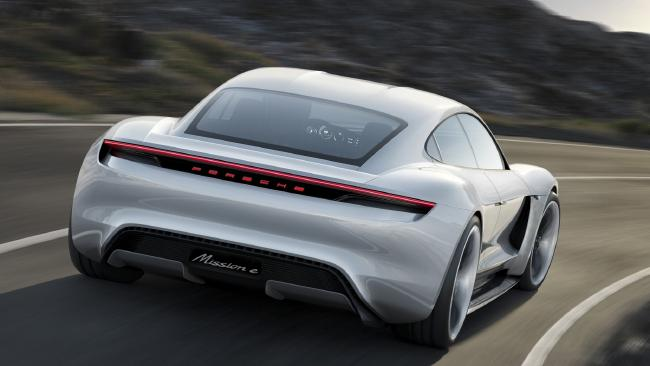 The Porsche Taycan is due to arrive in Australia in 2020.