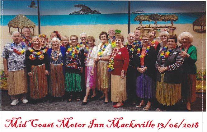 GOING TROPPO: Carindale National Seniors at Mid Coast Motor Inn, Macksville.