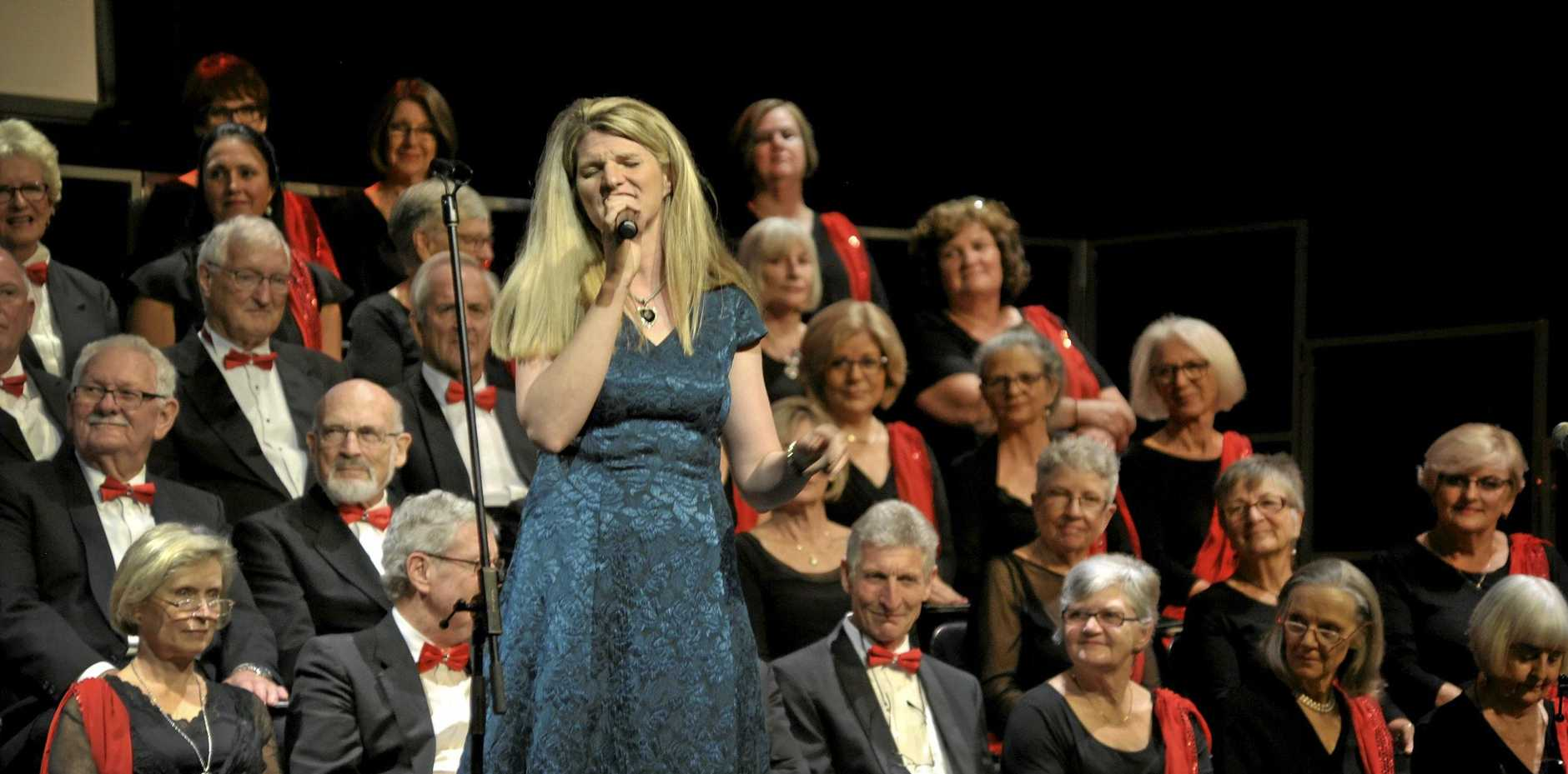Melbourne singer Juliarna Clark on song with Noosa Chorale at last year's launch of the Noosa Jazz Party.