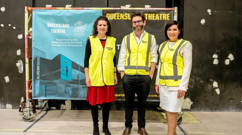 The Bille Brown Theatre will open in October with a play by  David Williamson's play.  Minister for Arts Leanne Enoch and representative visit the refurbished centre