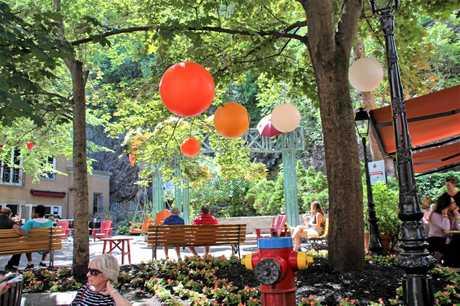 A park in Quartier Petit-Champlain.