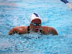 Swimmers in stroke for Rocky