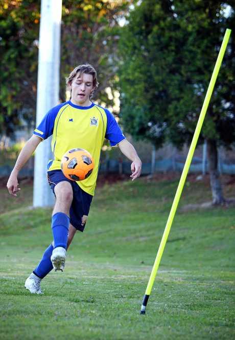 Hayden Collins he Gympie Under 15 Gympie united Gladiators.