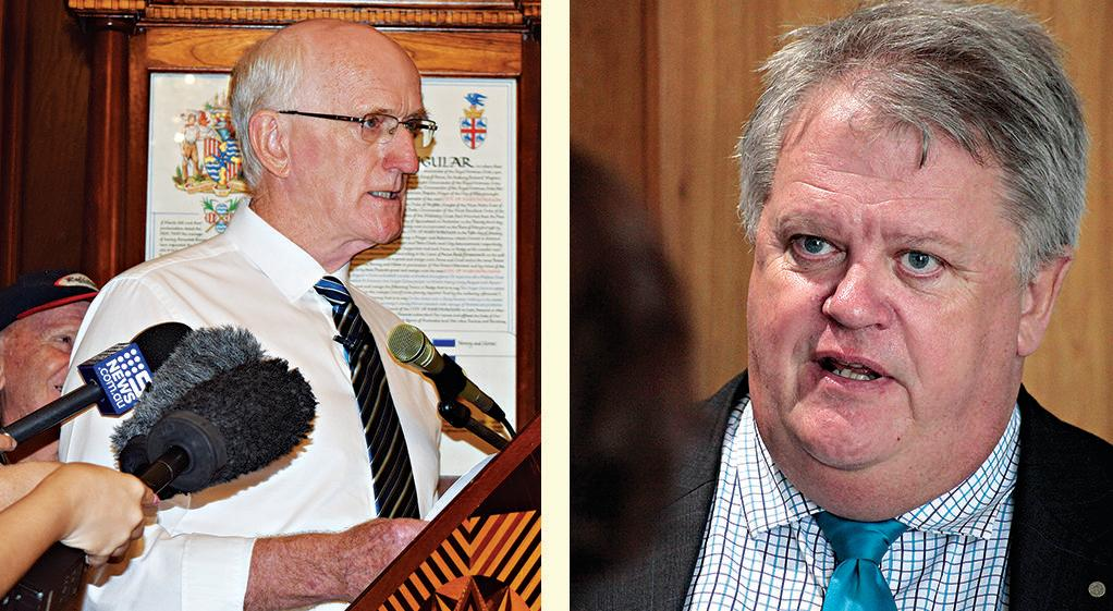 AT ODDS: Former Fraser Coast mayor Christ Loft (left) and Local Government Association of Queensland CEO Greg Hallam disagree over the state of the LGAQ in Queensland.