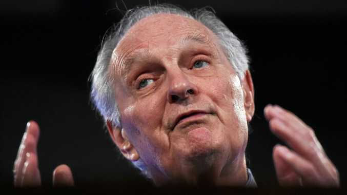 U.S. actor and science advocate Alan Alda speaks at the National Press Club in Canberra, Thursday, March 10, 2016.