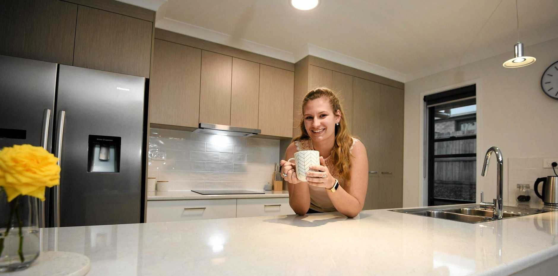FIRST HOME BUILDER: Caitlyn Pagel built her first home on the Southside before her 21st birthday.