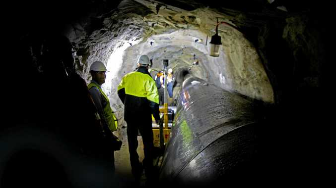 Team of specialists inspect the Blackall Range Tunnel and pipeline.