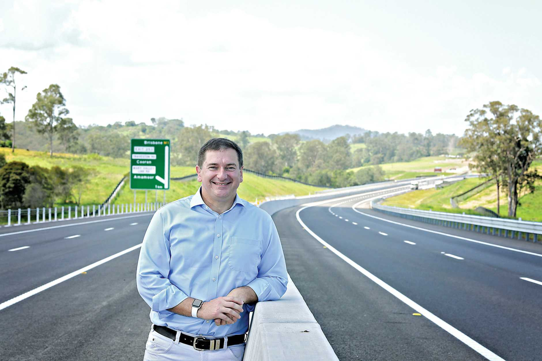 Opening of the new Bruce highway federal member for Wide Bay  Llew O'Brien .
