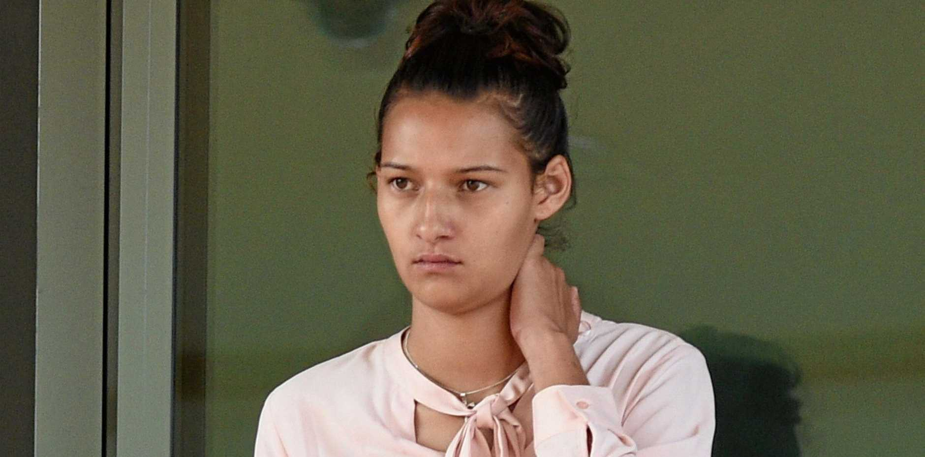 BAD CHOICES: Shaye Stephens leaves Hervey Bay District Court after sentencing.