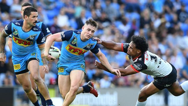 The signing could see AJ Brimson shift to fullback. (AAP Image/Dave Hunt)
