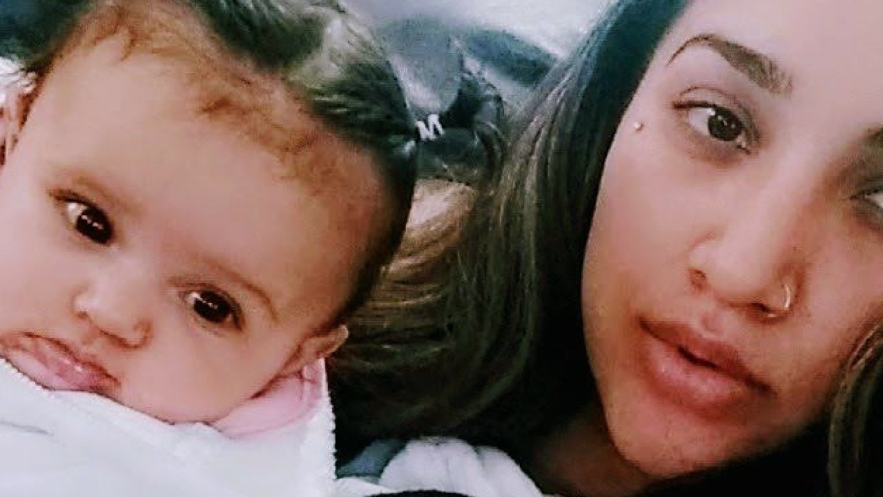 Delfina Mota says the trauma of daughter Cali's birth will stay with her forever. Picture: Facebook