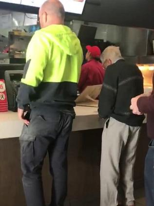 Dave Love was at the Maccas counter when he noticed Bert fumbling with a handful of change.