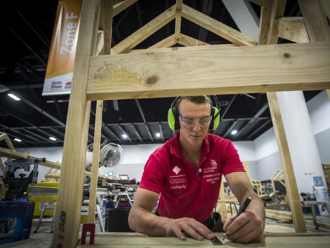 Oliver Horvath encourages others to consider a trade. Picture: WorldSkills Australia