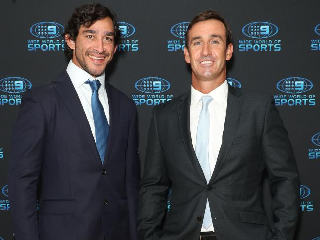Johnathan Thurston and Andrew Johns, two of the greatest.