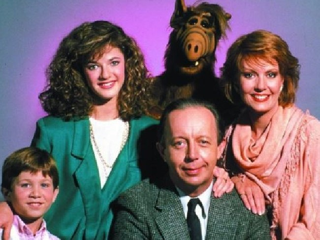 ALF starred Max Wright, Anne Schedeen, Andrea Elson and Benji Gregory as the Tanner family.  Picture:  Supplied