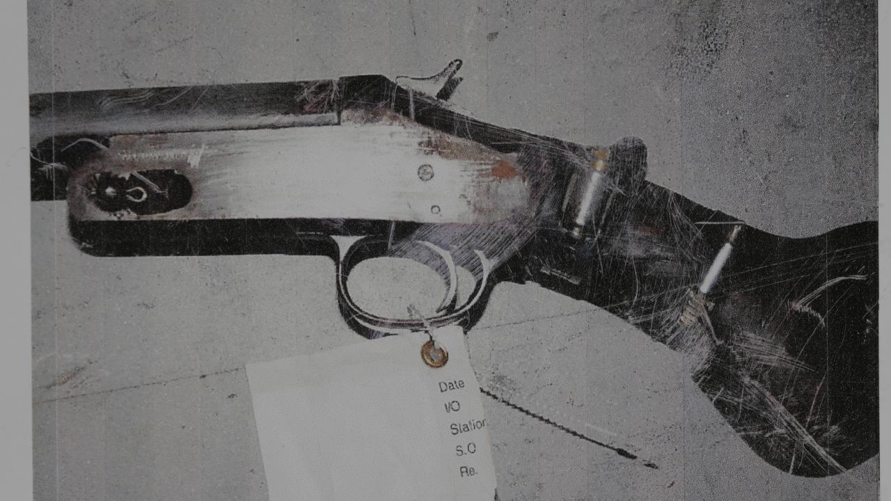 The gun.