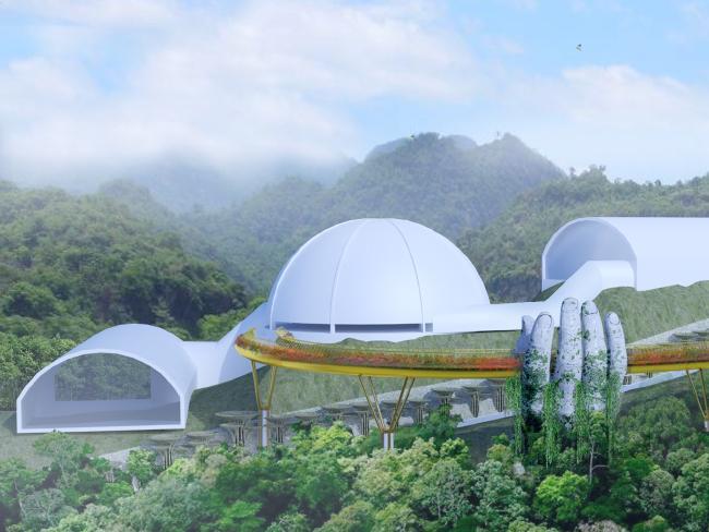 A design image of the bridge. Picture: TA Landscape Architecture
