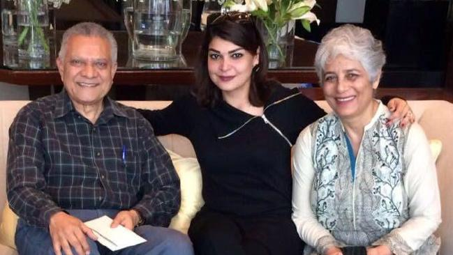 Mehreen Ahmad with her dad Naseer Ahmad and her mum Ambreen Ahmad before her catastrophic injury.