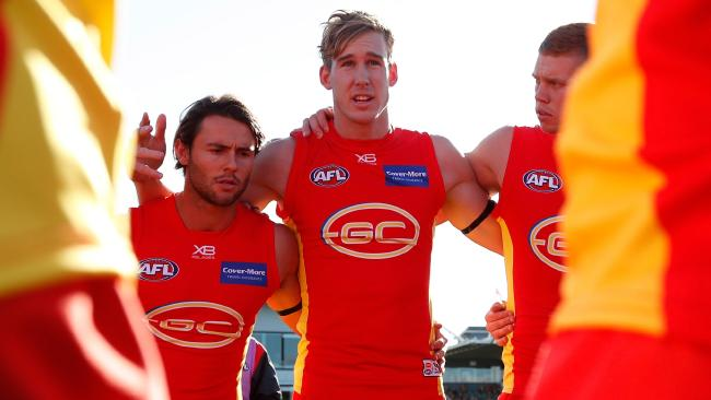 Tom Lynch has been stripped of the co-captaincy of the Suns. Picture: Getty Images