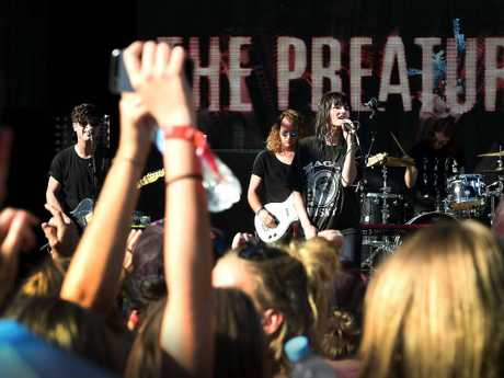 The Preatures get the crowd rocking. Picture: Patrina Malone