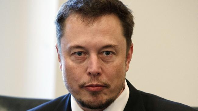 Mr Musk snapped at analysts in a previous Tesla meeting. Picture: AP Photo/Evan Vucci
