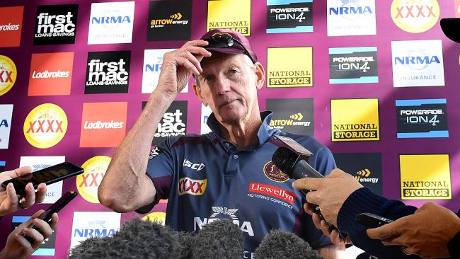 Wayne Bennett's future at the Broncos is as clear as mud. Picture: Dave Hunt/AAP
