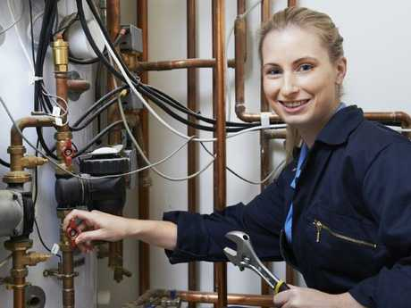 Plumbers' salaries increased well ahead of the sector average. Picture: iStock.