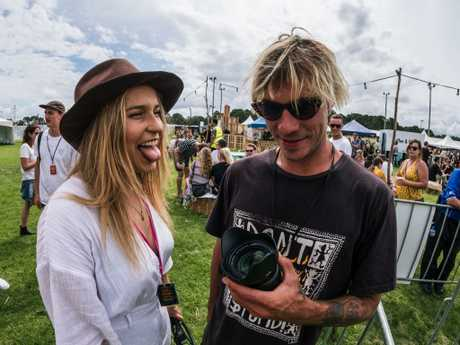 Holly Rankin/Jack River and Lee McConnell at the Grow Your Own festival. Picture: Supplied