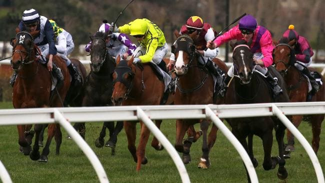 Victoria's jockeys have agreed to a new pay deal. Picture: AAP