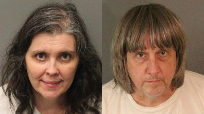 David Allen Turpin and Louise Anna Turpin. Picture: Riverside County Sheriff's Department