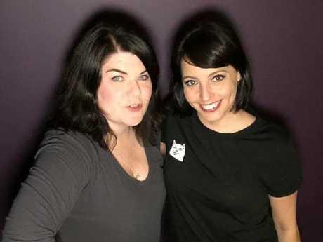 Karen Kilgariff and Georgia Hardstark from the My Favourite Murder podcast. Picture: Instagram