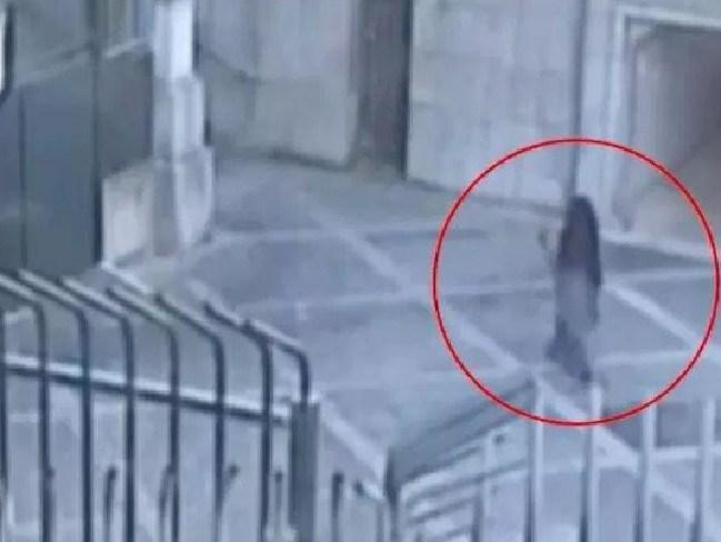Safaa captured on CCTV scoping the MI6 headquarters. Picture: Metropolitan Police